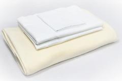 274, 275, 280, 286_VIP-Bed-LinenFleece-Blanket-White-Pillowcase-White-strip-sheet-White-strip-Contour-sheet